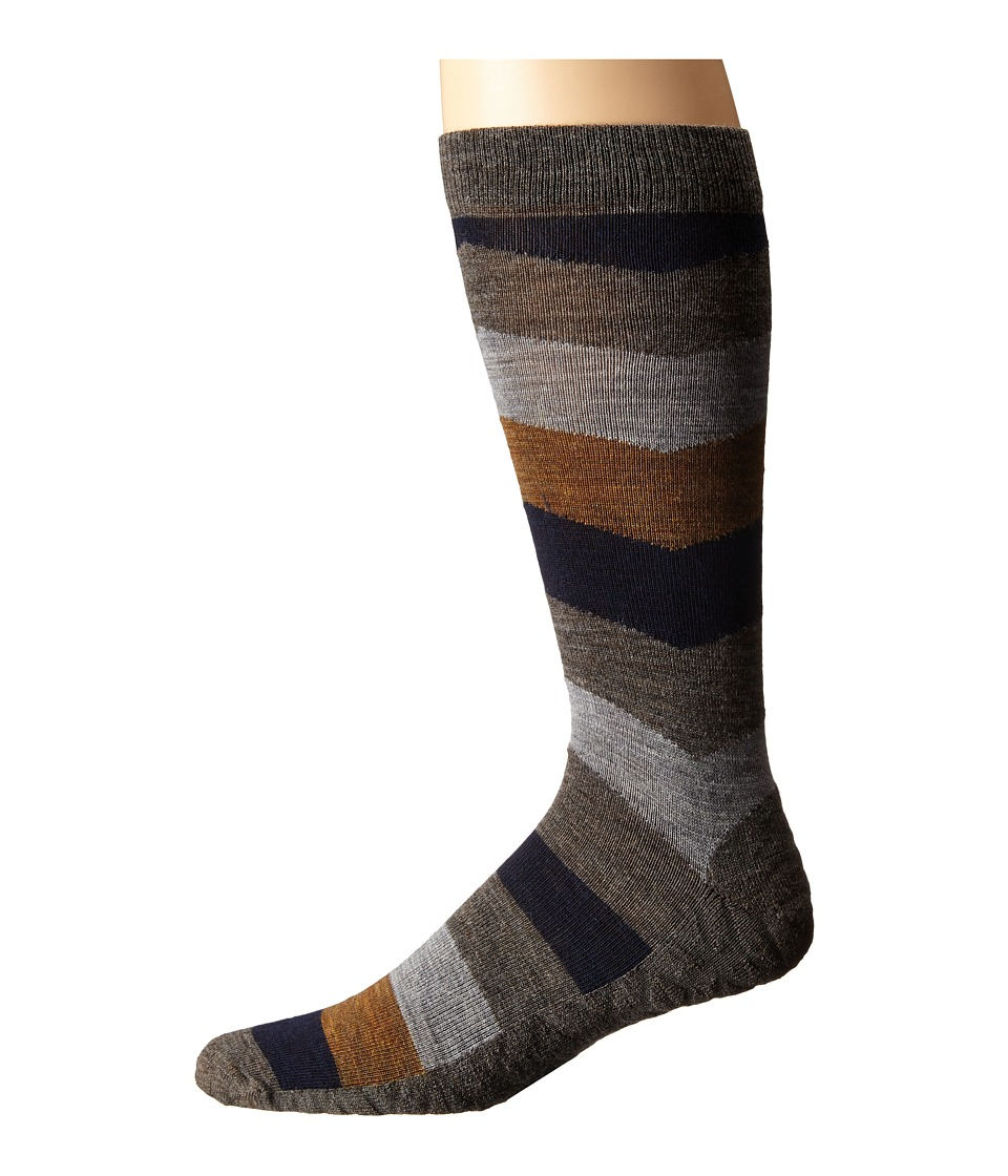 Smartwool - Chevron Stripe (Taupe) Men's Crew Cut Socks Shoes