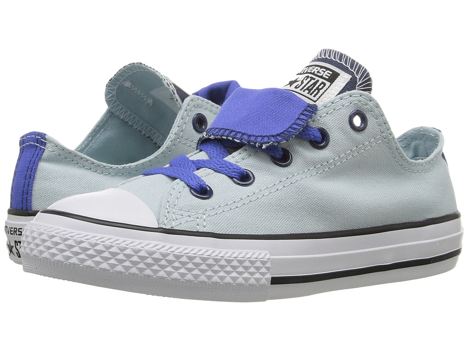 Converse Kids Converse Kids Chuck Taylor All Star Double Tongue (Little Kid/Big Kid) (Polar Blue/Oxygen Blue/White) Girls Shoes