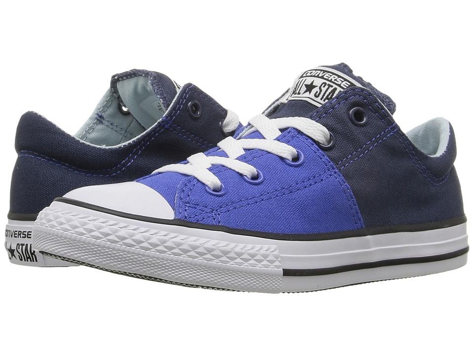 Converse Kids Chuck Taylor All Star Madison Ox (Little Kid/Big Kid) (Navy/Polar Blue/White) Girls Shoes