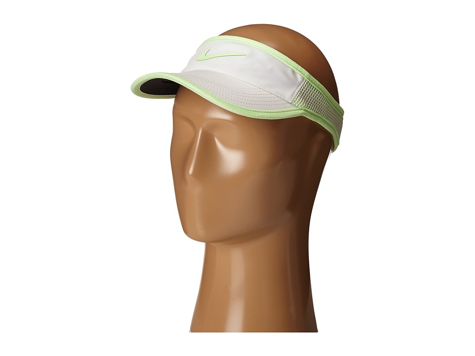Nike - Featherlight Visor (White/Black/Barely Volt/Barely Volt) Casual Visor