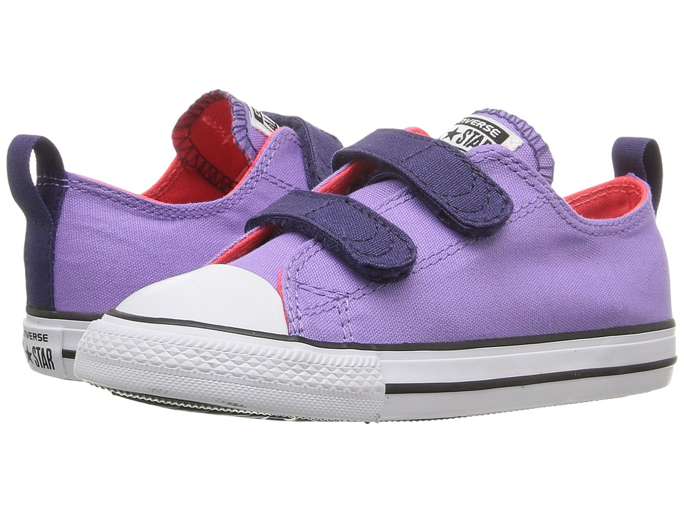 Converse Kids - Chuck Taylor All Star 2V (Infant/Toddler) (Frozen Lilac/Japanese Eggplant/White) Girl's Shoes