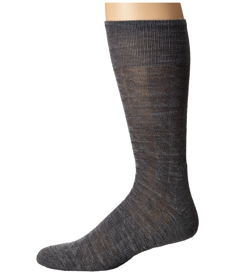 Smartwool - Triangulate Crew (Medium Gray) Men's Crew Cut Socks Shoes