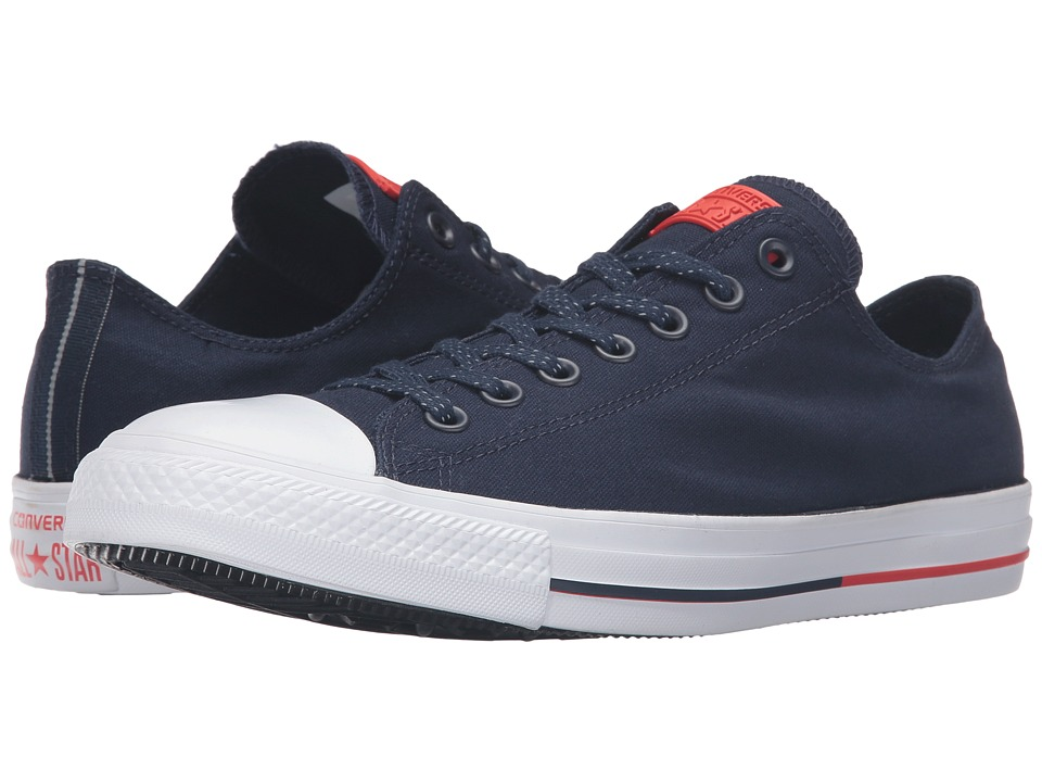 Converse - Chuck Taylor All Star Shield Canvas Ox (Obsidian/White/Signal Red) Lace up casual Shoes