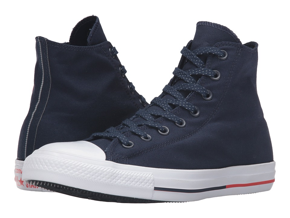 Converse - Chuck Taylor All Star Shield Canvas Hi (Obsidian/White/Signal Red) Lace up casual Shoes