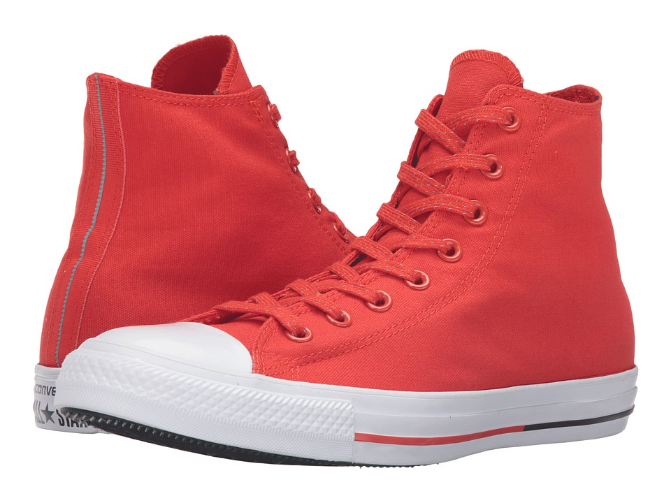 Converse - Chuck Taylor All Star Shield Canvas Hi (Signal Red/White/Obsidian) Lace up casual Shoes