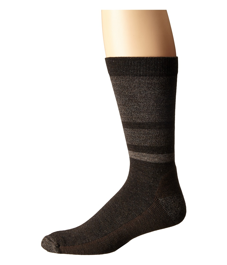 Smartwool - Shed Stripe (Chestnut) Men's Crew Cut Socks Shoes