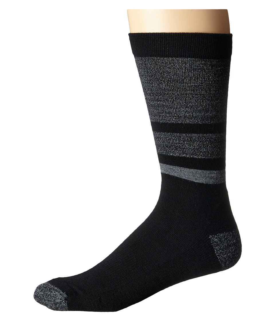 Smartwool - Shed Stripe (Black) Men's Crew Cut Socks Shoes