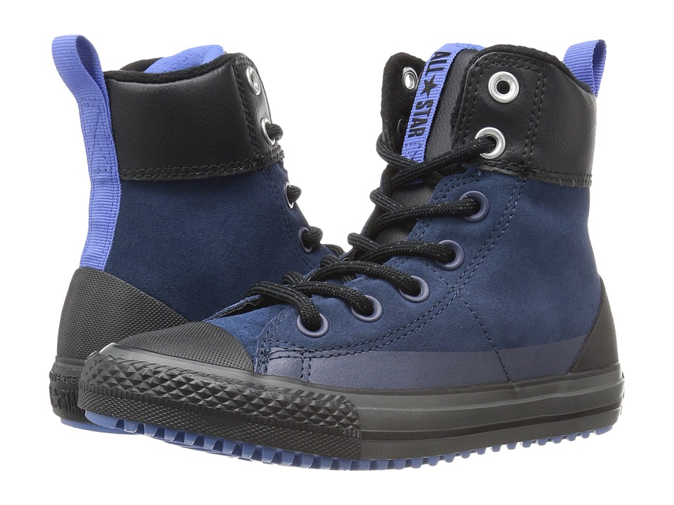 Converse Kids - Chuck Taylor All Star Asphalt Boot (Little Kid/Big Kid) (Navy/Oxygen Blue/Black) Boys Shoes