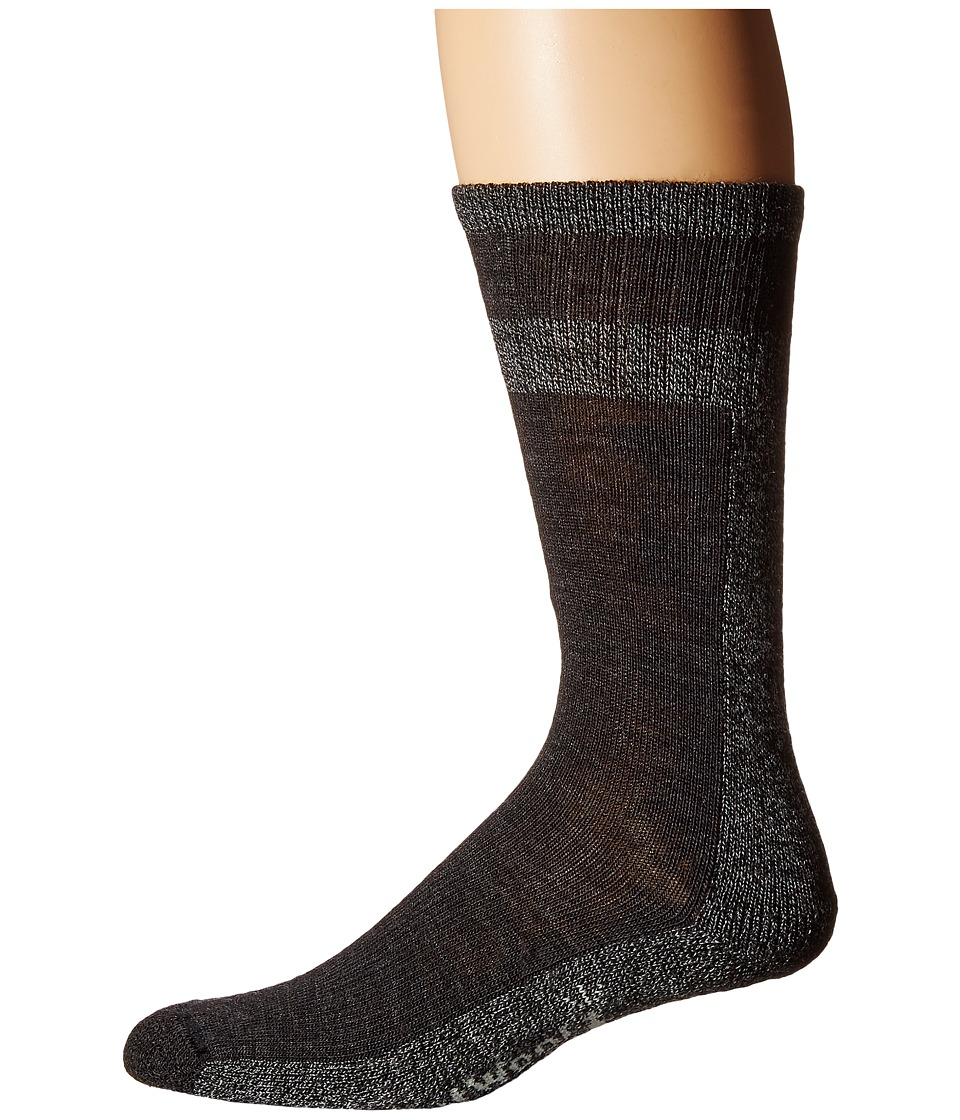 Smartwool - Traverser (Charcoal Marl) Men's Crew Cut Socks Shoes