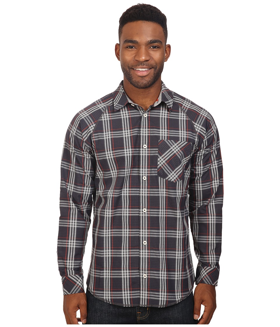 adidas Skateboarding - Easy-Breeze Long Sleeve Shirt (Black/Clear Brown/Craft Chili) Men's Long Sleeve Button Up