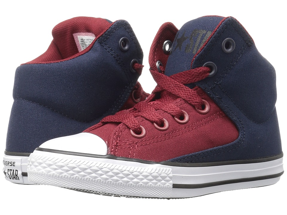 Converse Kids - Chuck Taylor All Star High Street Hi (Little Kid/Big Kid) (Obsidian/Red Block/White) Boys Shoes