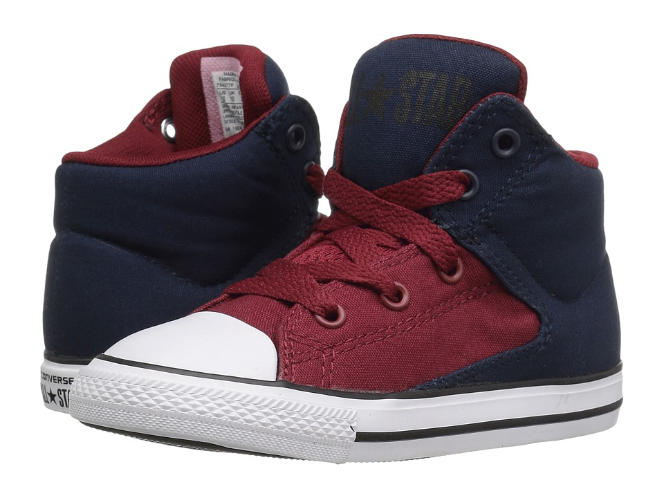 Converse Kids - Chuck Taylor All Star High Street Hi (Infant/Toddler) (Obsidian/Red Block/White) Boys Shoes