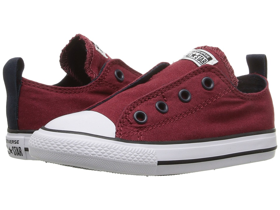 Converse Kids - Chuck Taylor All Star Simple Slip Ox (Infant/Toddler) (Red Block/Obsidian/White) Boys Shoes