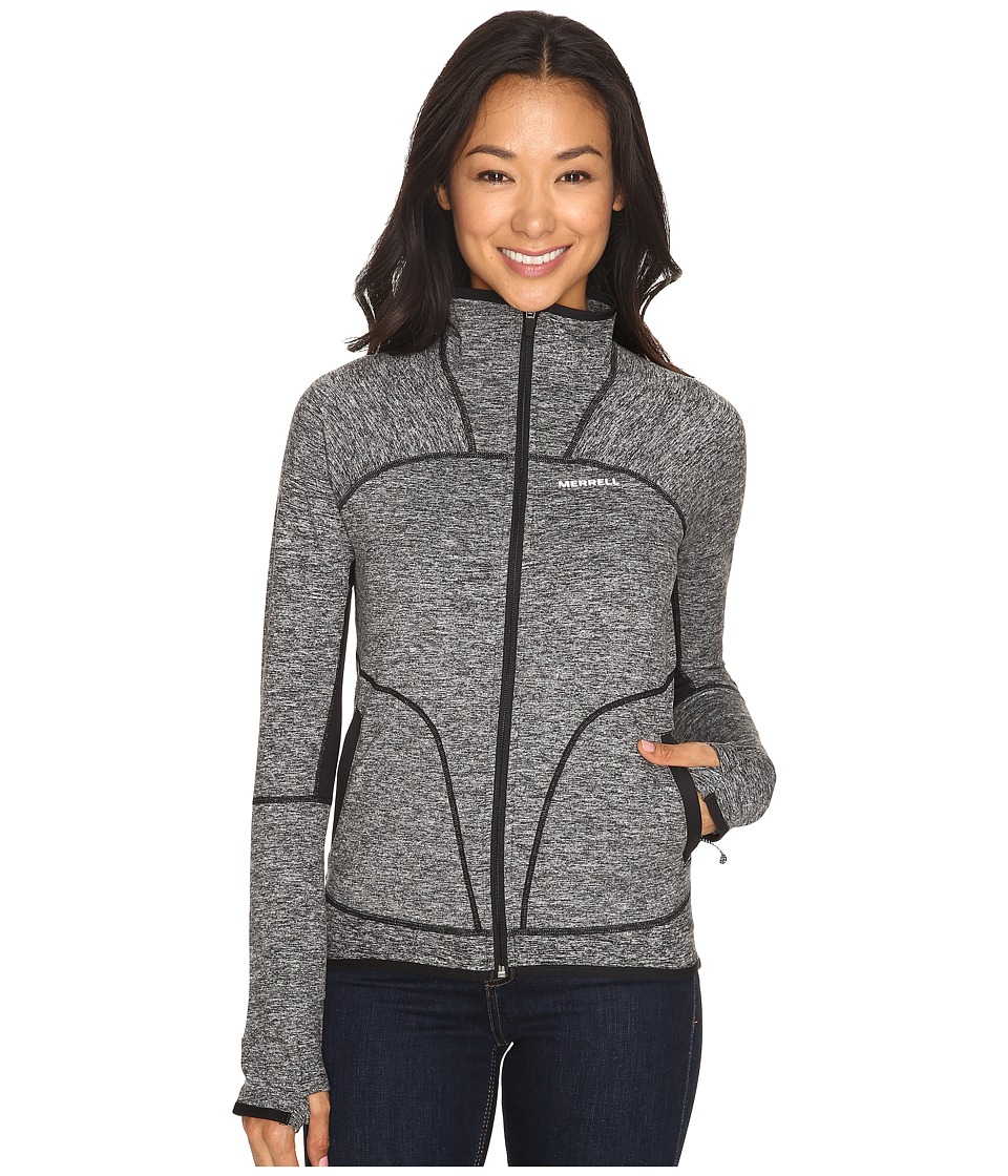 Merrell - Everlong Full Zip Tech Fleece (Black Heather) Women's Fleece