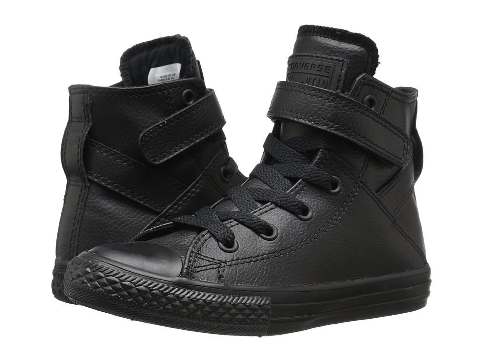 Converse Kids - Chuck Taylor All Star Brea (Little Kid/Big Kid) (Black/Black/Black) Girl's Shoes