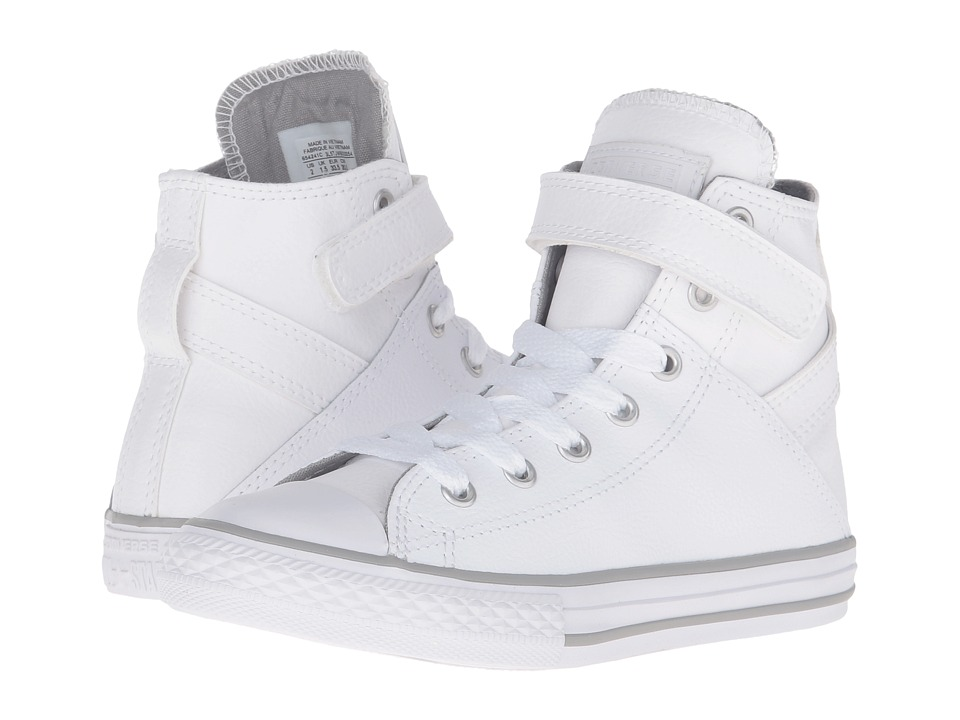 Converse Kids Chuck Taylor All Star Brea (Little Kid/Big Kid) (White/White/White) Girl
