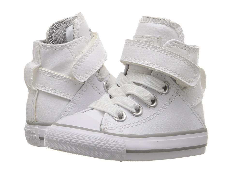 Converse Kids - Chuck Taylor All Star Brea (Infant/Toddler) (White/White/White) Girl's Shoes