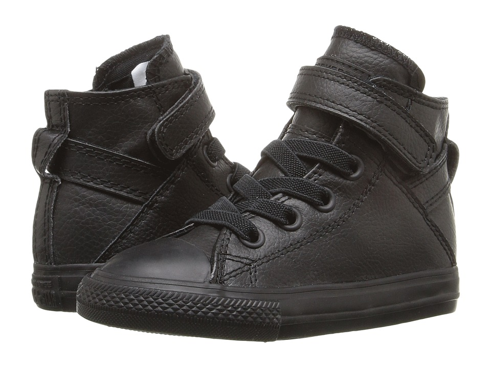 Converse Kids Chuck Taylor All Star Brea (Infant/Toddler) (Black/Black/Black) Girl