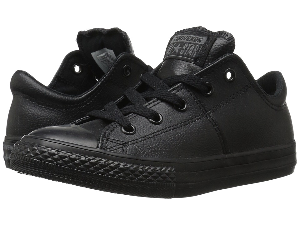 Converse Kids Chuck Taylor All Star Madison Ox (Little Kid/Big Kid) (Black/Black/Black 1) Girls Shoes