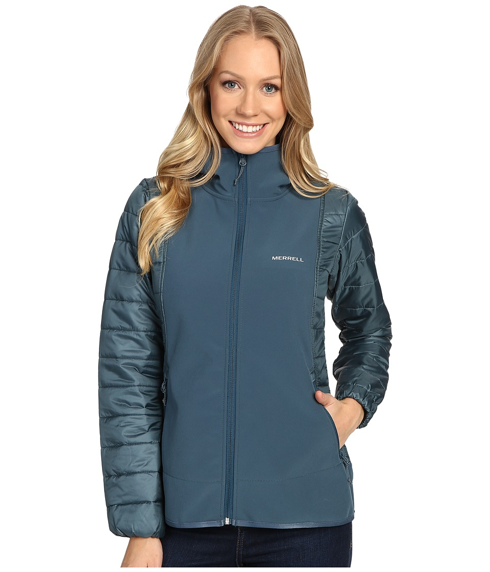 Merrell - Northernlites Hybrid Softshell Jacket (Blue Spruce) Women's Coat