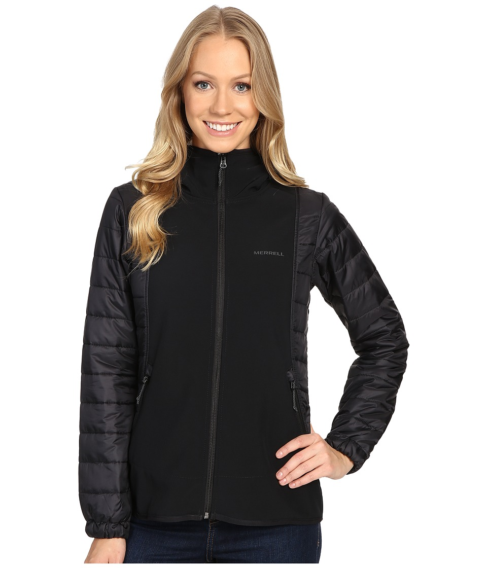 Merrell - Northernlites Hybrid Softshell Jacket (Black) Women's Coat