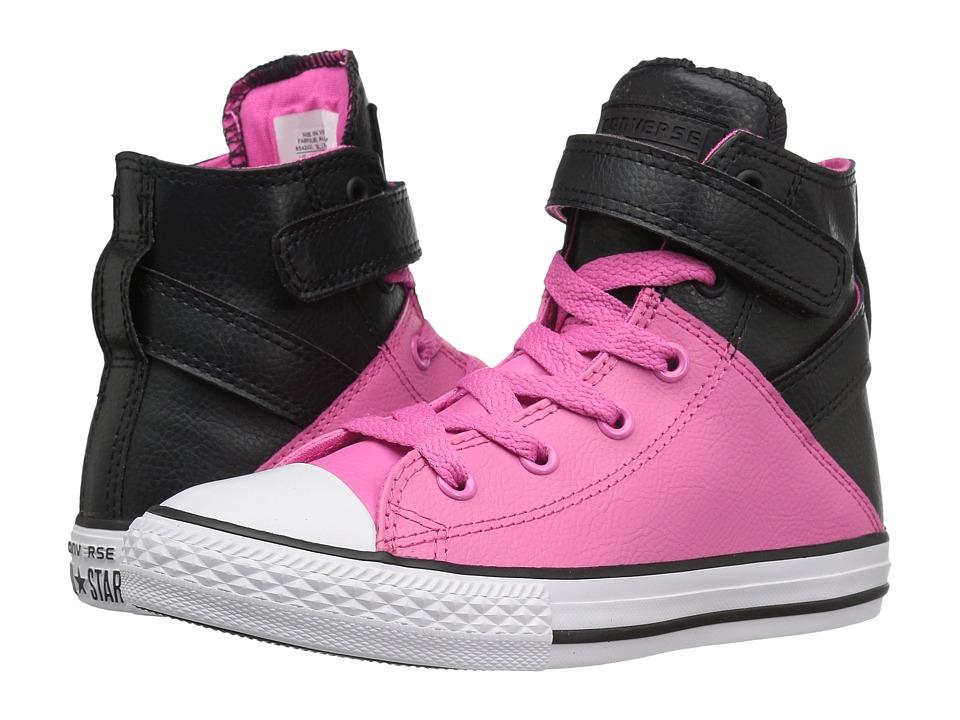 Converse Kids - Chuck Taylor All Star Brea (Little Kid/Big Kid) (Black/Mod Pink/White) Girl