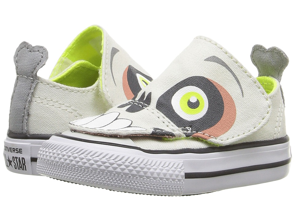 Converse Kids - Chuck Taylor All Star Creatures Ox (Infant/Toddler) (Vaporous Gray/Volt/White) Kids Shoes