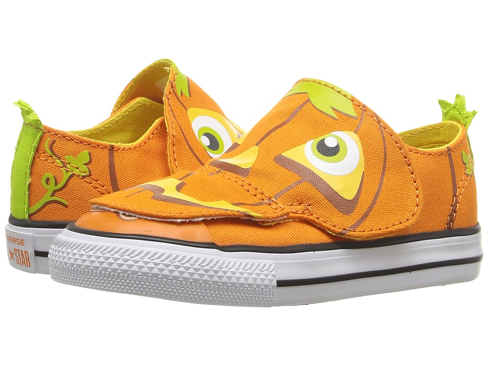 Converse Kids - Chuck Taylor All Star Creatures Ox (Infant/Toddler) (Vivid Orange/Aurora Yellow/White) Kids Shoes