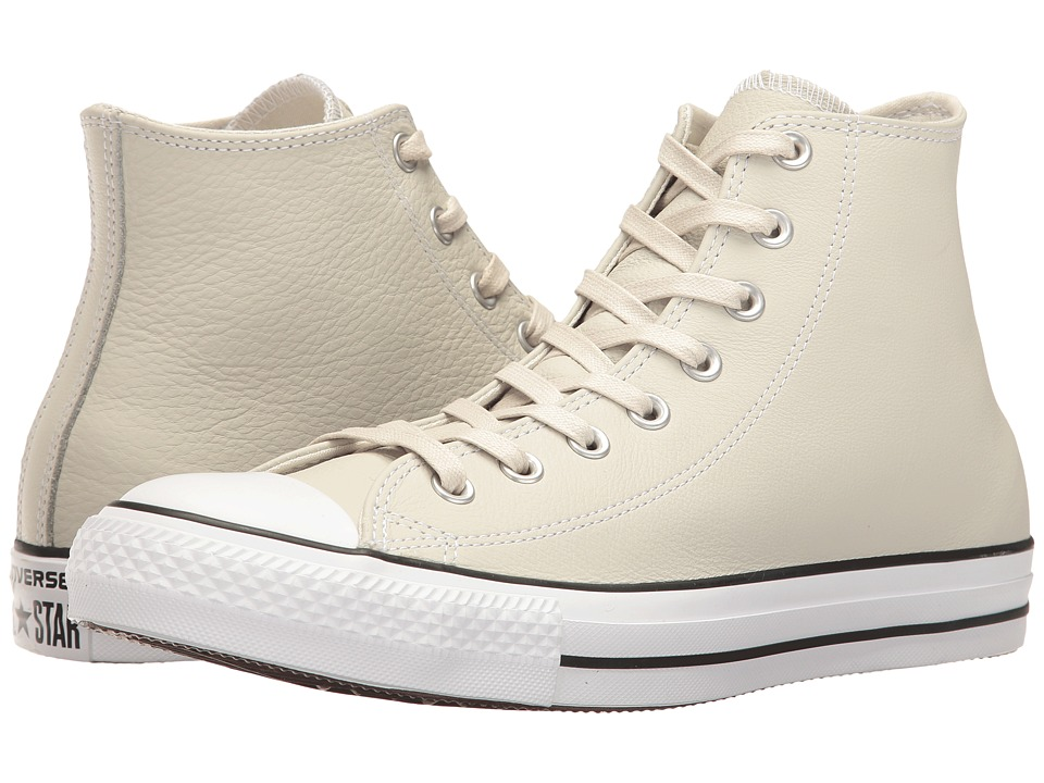 Converse Chuck Taylor All Star Leather Hi (Buff/Shadow Teal/White) Shoes