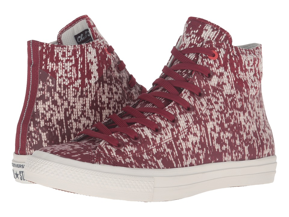 Converse - Chuck Taylor(r) All Star(r) II Translucent Rubber Hi (Red Block/Buff/Black) Lace up casual Shoes