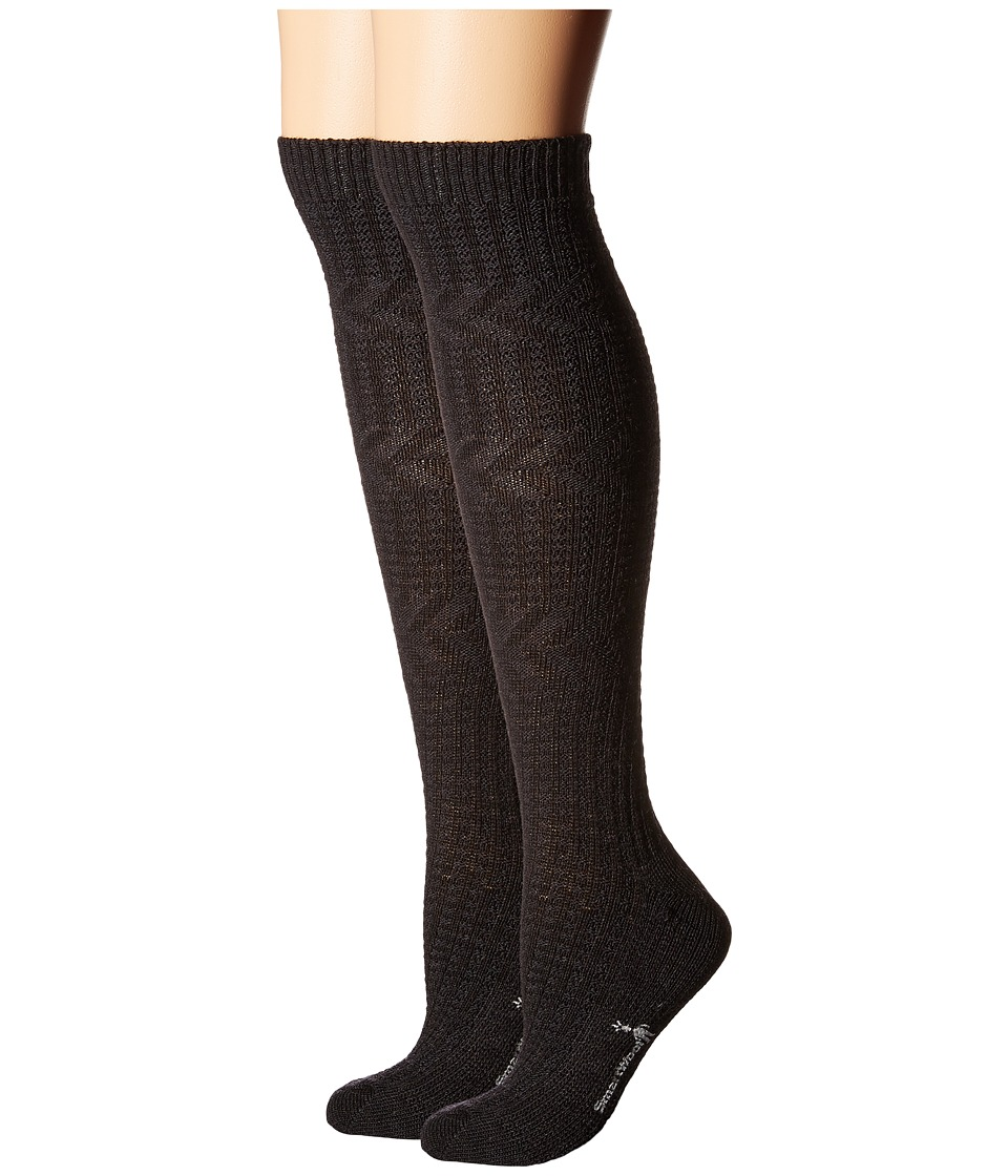 Smartwool - Wheat Fields Knee Highs (Charcoal Heather) Women's Knee High Socks Shoes