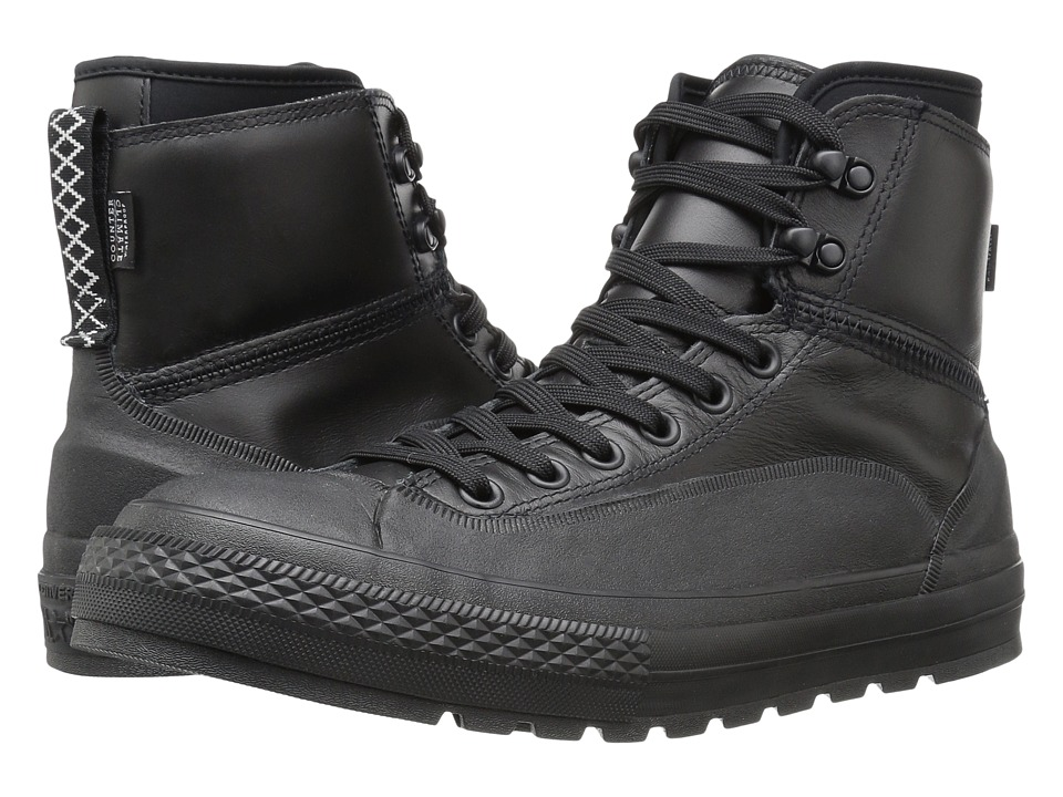 Converse - Chuck Taylor All Star Tekoa Waterproof (Black/Black/White) Men's Waterproof Boots