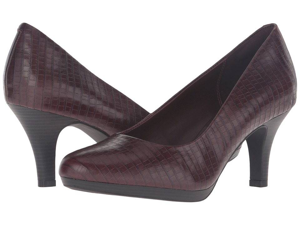 Clarks Brenna Maple (Burgundy Croc Leather) Women