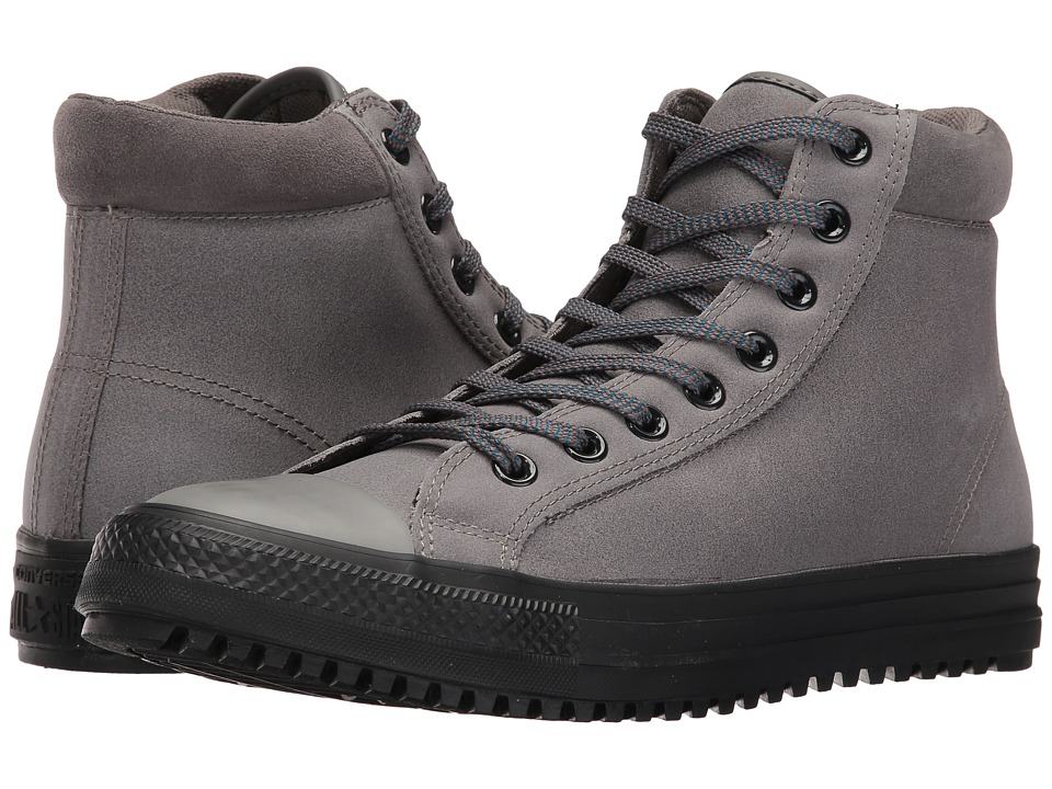Converse - Chuck Taylor All Star Boot PC Coated Leather Hi (Charcoal Grey/Blue Lagoon/Black) Men's Lace-up Boots