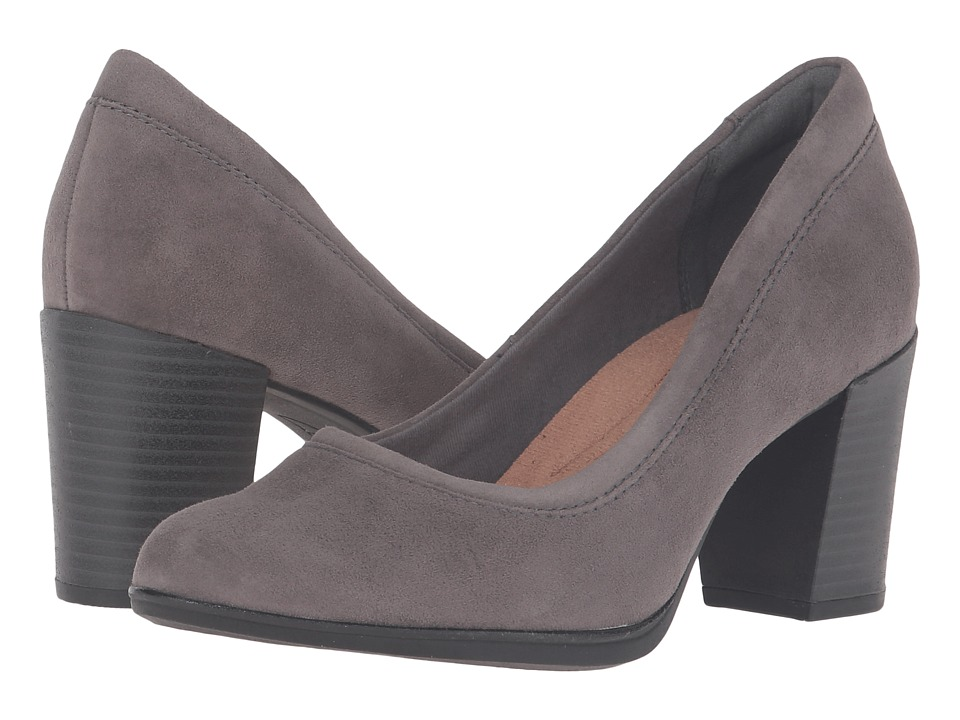 Clarks - Araya Moon (Grey Suede) Women's 1-2 inch heel Shoes