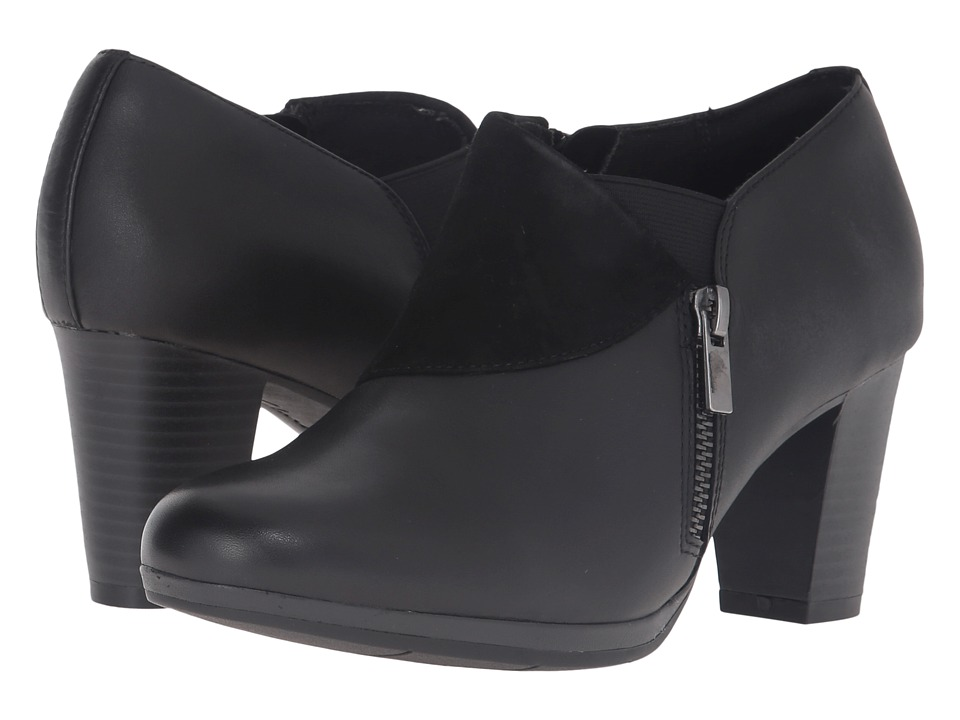 Clarks Brynn Sandra (Black Leather/Suede Combo) Women