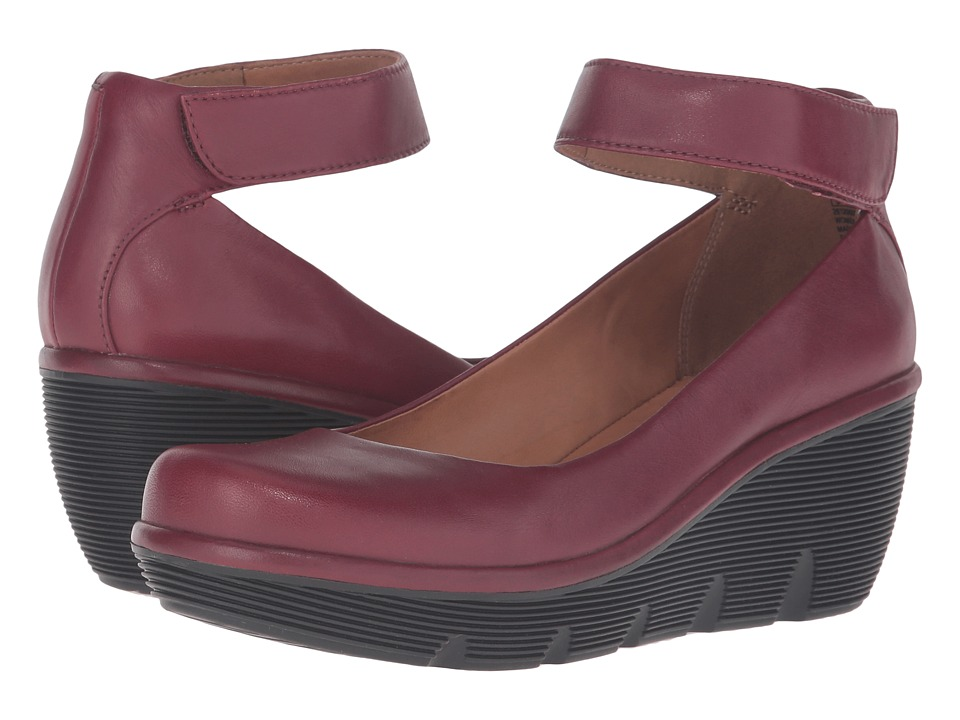 Clarks - Clarene Tide (Burgundy Leather) Women's Shoes
