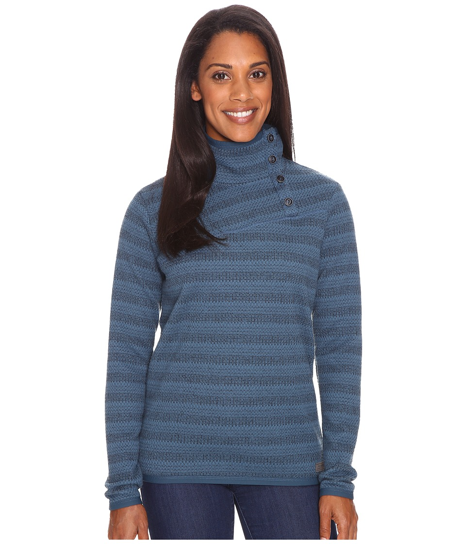 Merrell Freespirit Funnel Neck Sweater (Blue Spruce Tweed) Women
