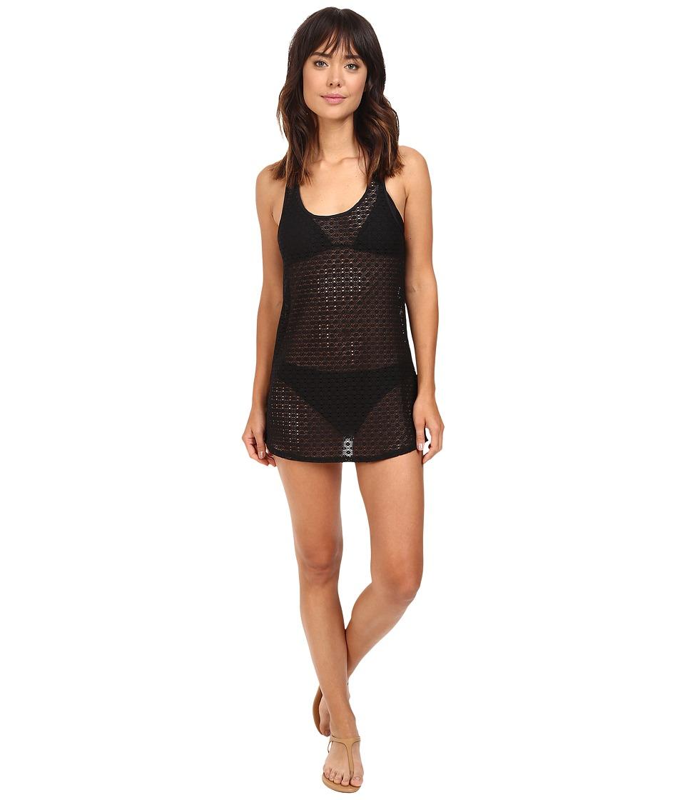 Roxy - Crochet Sporty Dress Cover-Up (True Black) Women's Swimwear