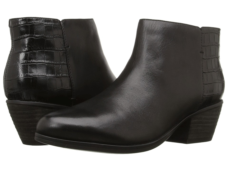 Clarks - Gelata Italia (Black Combo Leather) Women's Boots