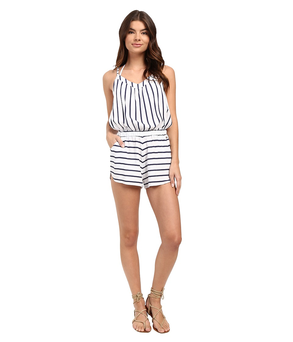 Roxy - Keep Cool Romper Cover-Up (Essential Stripe Combo Seaspray) Women's Jumpsuit & Rompers One Piece