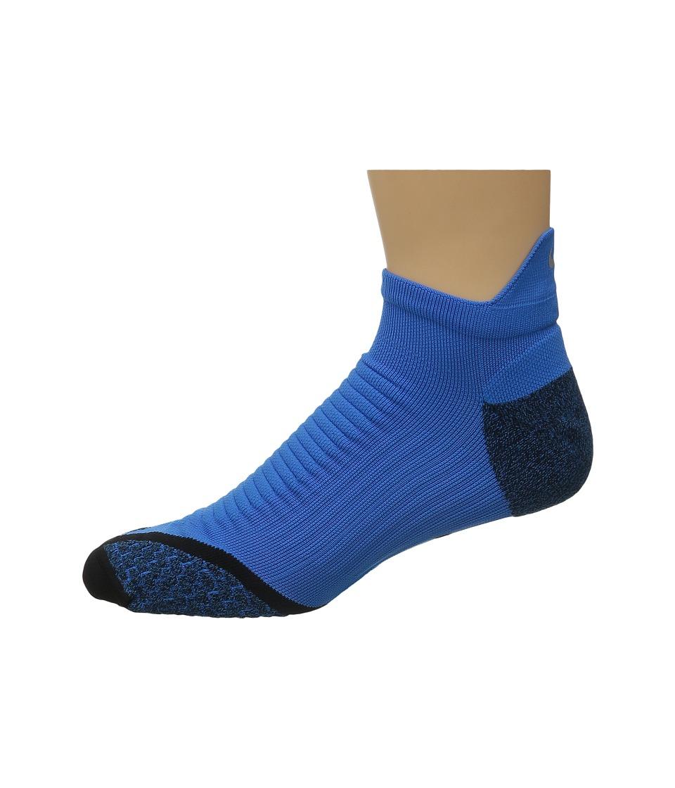 Nike Elite Running Cushion No Show Tab (Light Photo Blue/Black) No Show Socks Shoes