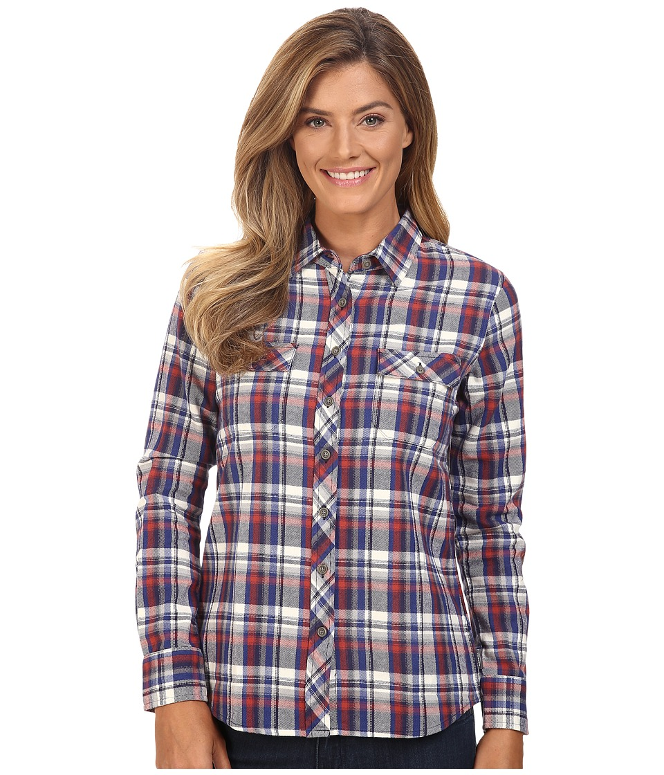 Merrell - Vagabond Flannel Shirt (Marsala Plaid) Women's Long Sleeve Button Up