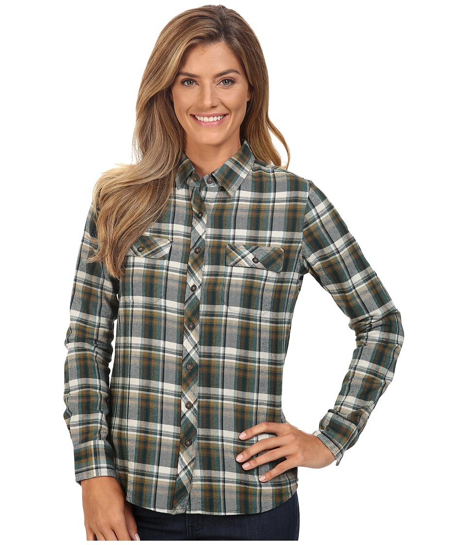 Merrell - Vagabond Flannel Shirt (Beech Plaid) Women's Long Sleeve Button Up