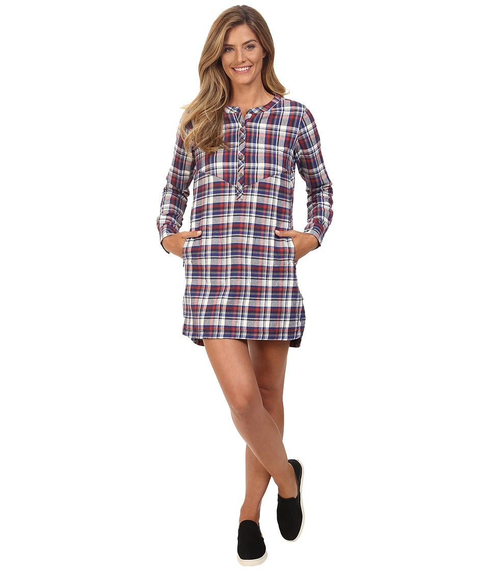 Merrell Vagabond Flannel Tunic Dress (Marsala Plaid) Women
