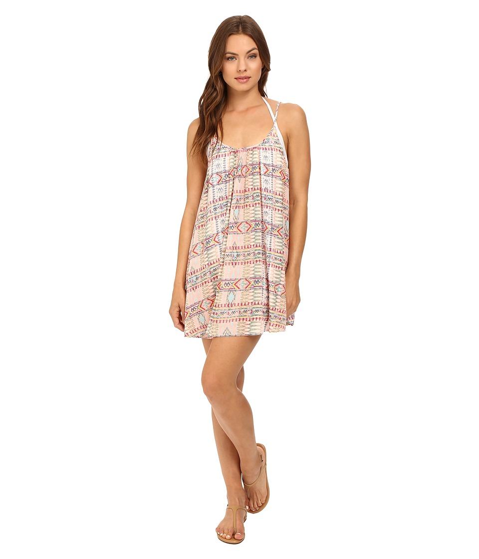 Roxy Windy Fly Away Print Dress Cover-Up Sunset Bay Combo Sea Spray Swimwear
