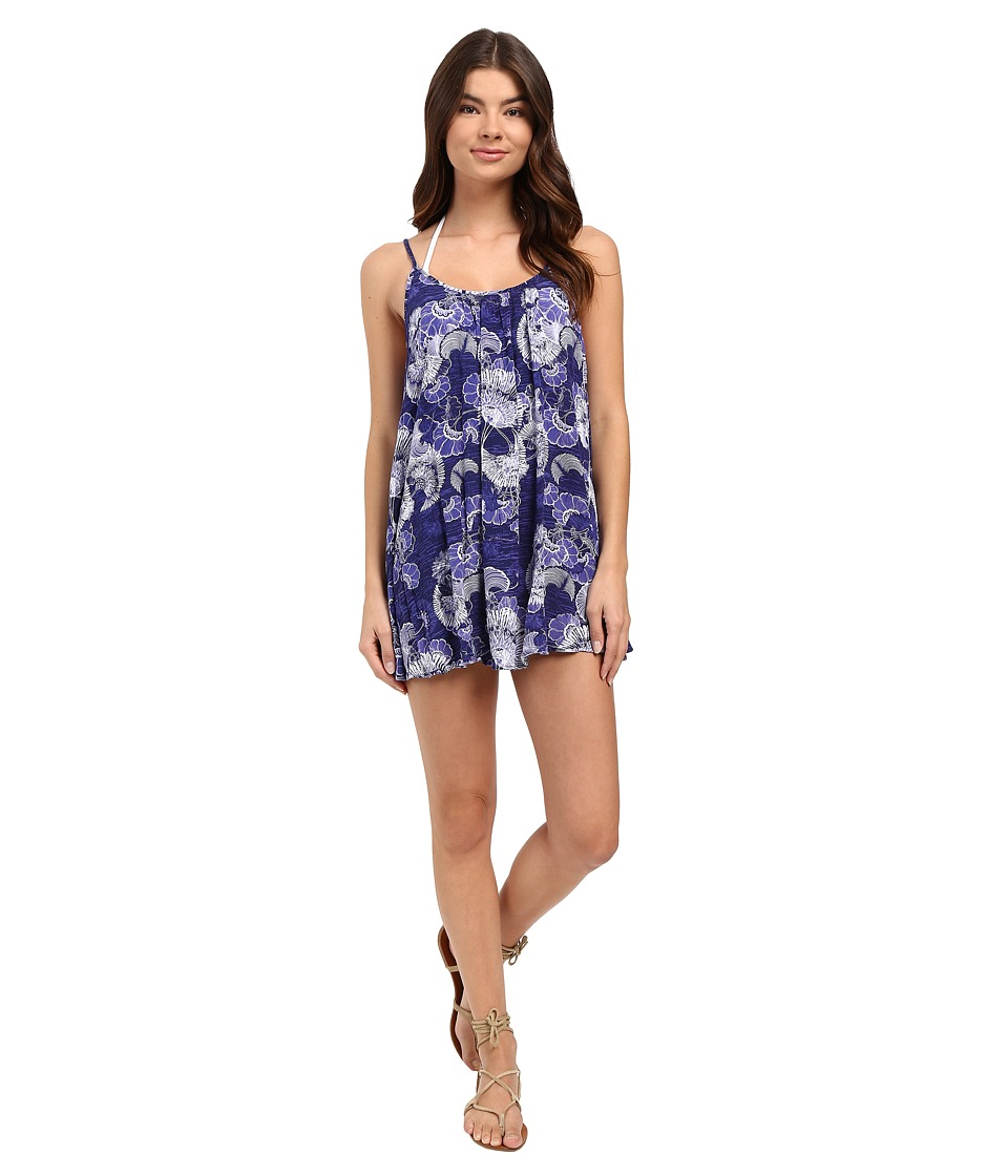 Roxy - Windy Fly Away Print Dress Cover-Up (Perpetual Flower Ink) Women's Swimwear