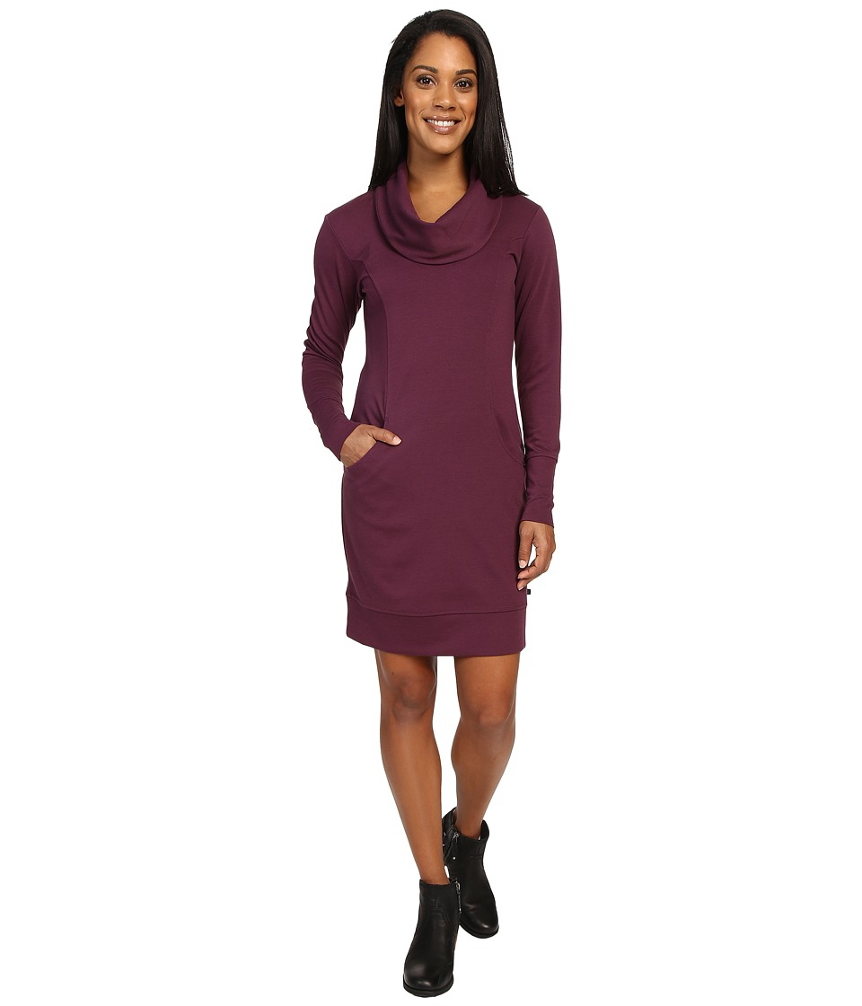 Merrell - Indira Comfy Cowl Dress (Prune Purple) Women's Dress