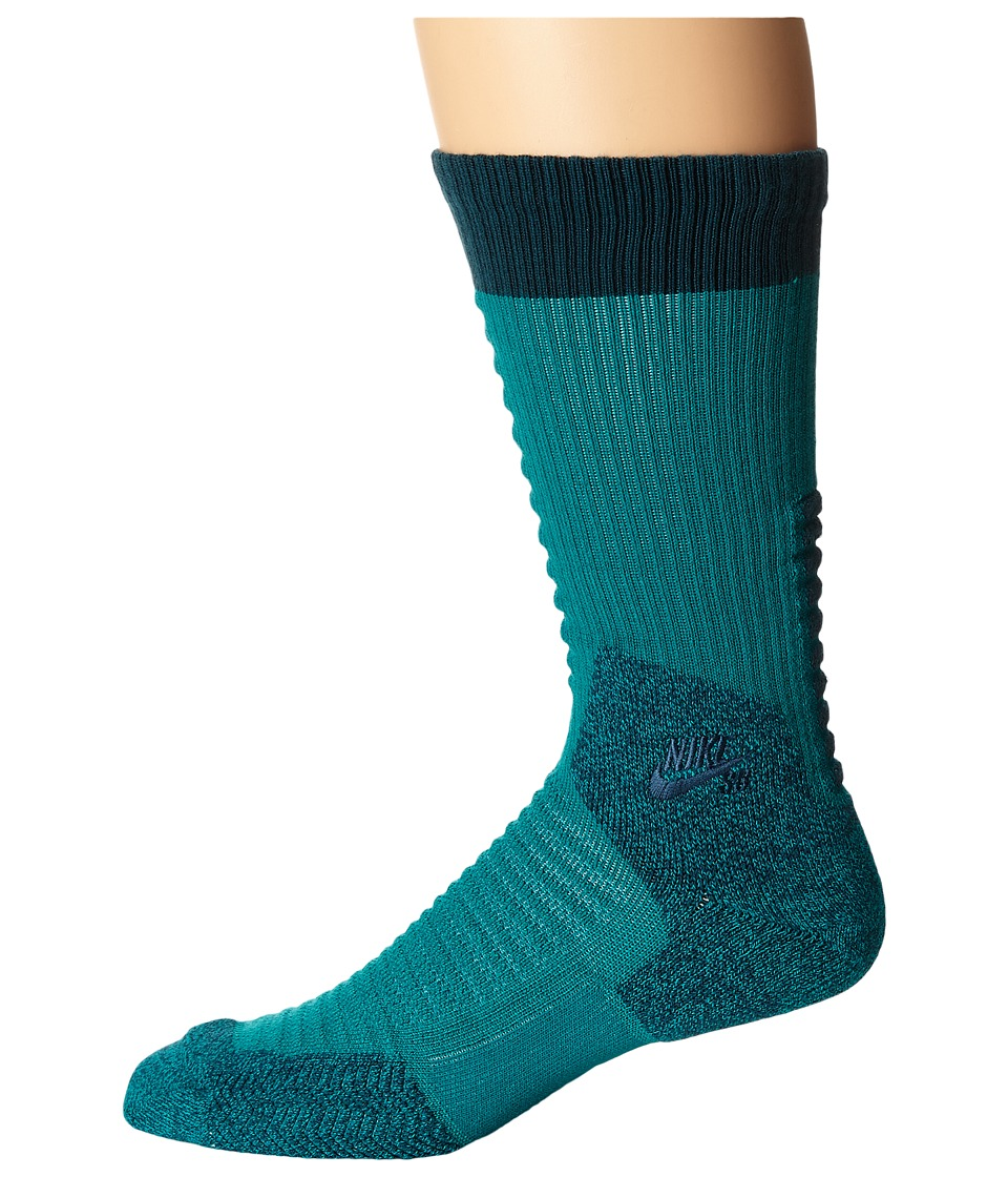 Nike SB - Skate Crew 2.0 Sock (Rio Teal/Midnight Turquoise/Midnight Turquoise) Crew Cut Socks Shoes