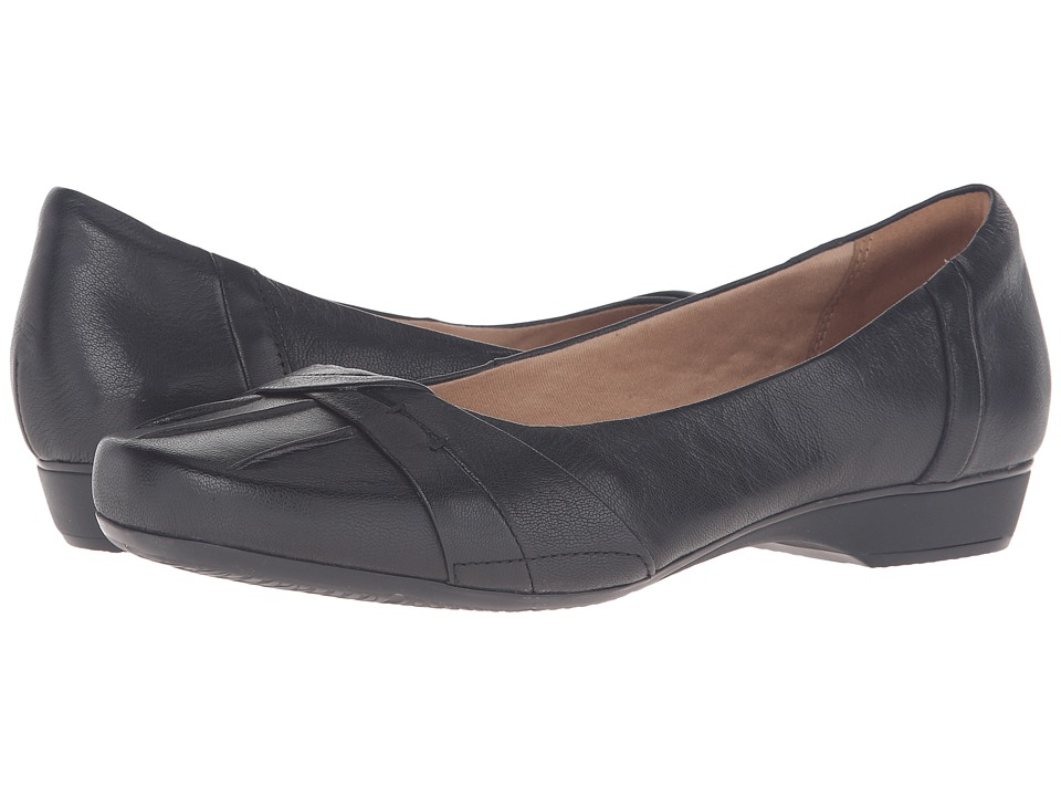 Clarks - Blanche Fria (Black Leather) Women's Flat Shoes